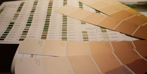 paint swatches and mural color palette